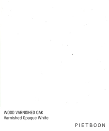 Varnished Oak Opaque White
