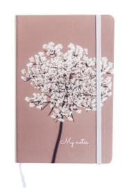 Notitieboekje Vlierbloesem oud roze - wit