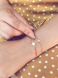 Armbandje stargate - goud, rood
