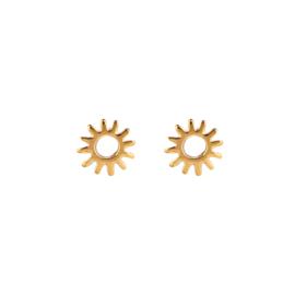 Oorbellen burning sun - goud, zilver