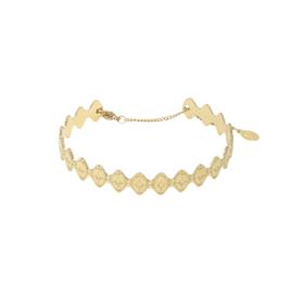 Armband medditeranean - goud, zilver