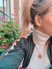 Ketting tiny love - goud, zilver