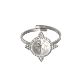Ring northern star - zilver