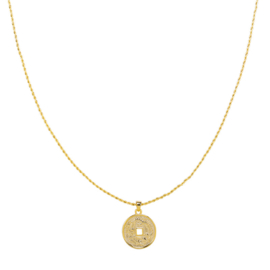Ketting mythological coin - goud