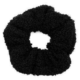Scrunchie teddy - zwart