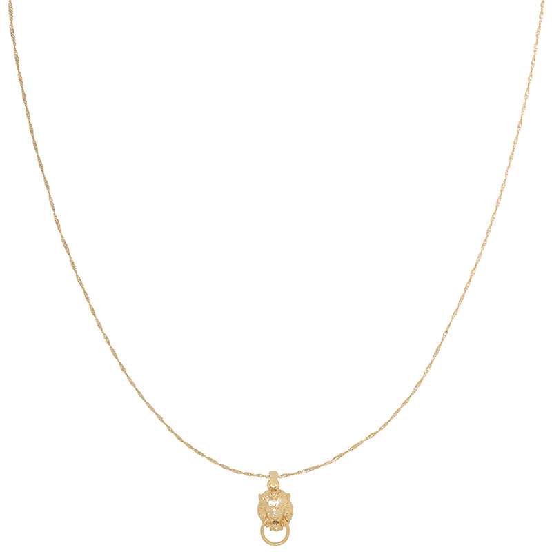 Ketting knock knock who's there - goud, zilver