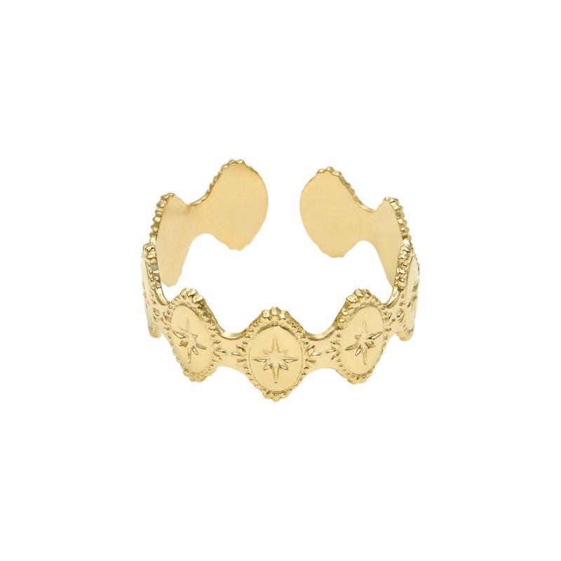 Ring mediterranean - goud, zilver