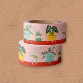 washi tape plants