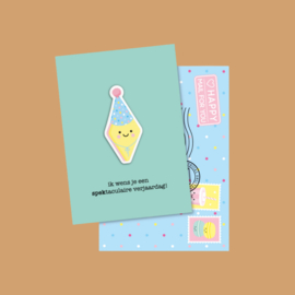 magneetkaart spektaculaire verjaardag