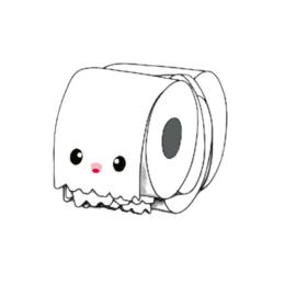 sticker xl wc papier