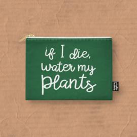 canvas etui water my plants