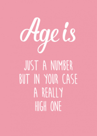 kaart age is just a number roze