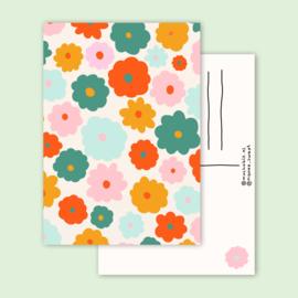 kaart happy flowers