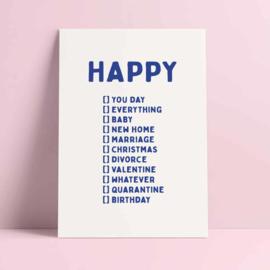 kaart happy you day