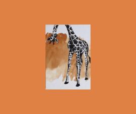 kaart  giraffe