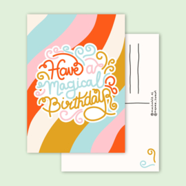 kaart magical birthday
