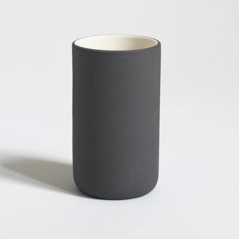 Mok 200 ml | latte | donkergrijs