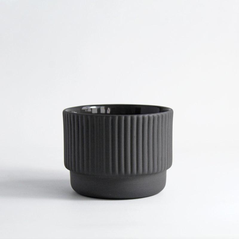 Cappuccino mok 120 ml | donkergrijs