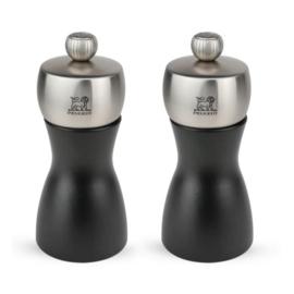 Peugeot Geschenkset Fidji Noir Mat Duo, 12 cm