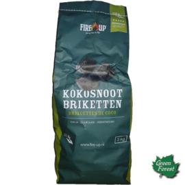Fire-Up Professional Kokosnoot Briketten 3 kg
