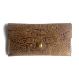 ❥ Wallet Croc Brown