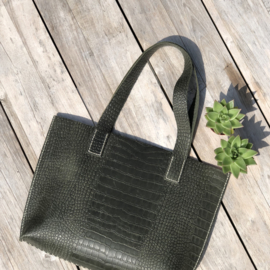 ❥ Bag Croc Green XL