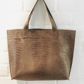❥ Bag Croc Brown XL