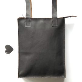 ❥ Leather Shopper
