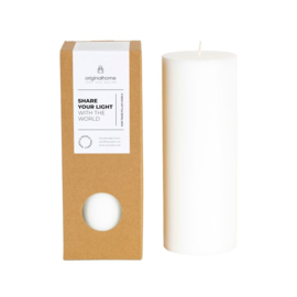 ❥ Pillar candle White