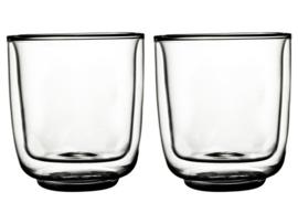 ❥ Dubbelwandig glas Fica 250ml 2 st.