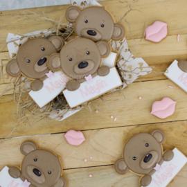 Baby beer blauw/roze (kleur keuze)