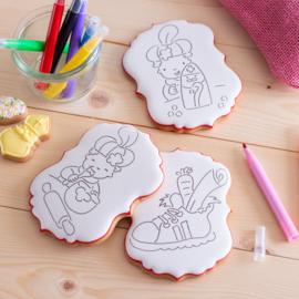 Sinterklaas kleurkoeken (3stuks) + stiften