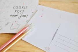 """Los kaartje  """"Cookie post voor jou!"""""""