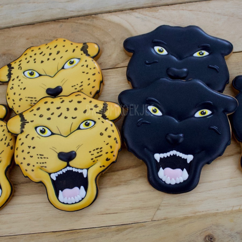 Cheetah en/of zwarte panter (per stuk)