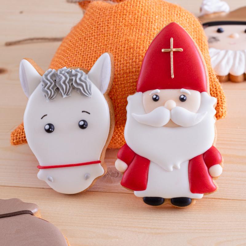 Sinterklaas met paard (setje van 2 stuks)