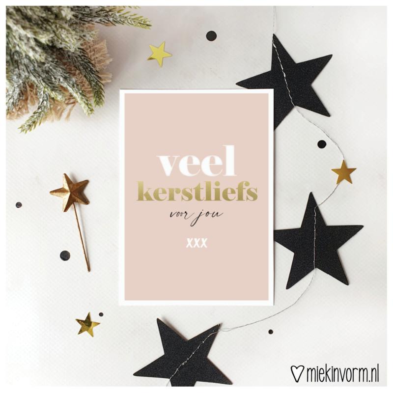 'Veel Kerstliefs' Ansichtkaart