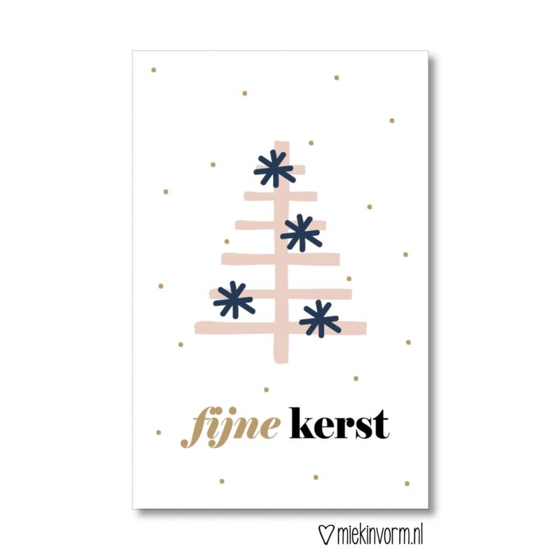 'Fijne Kerst' mini kaart