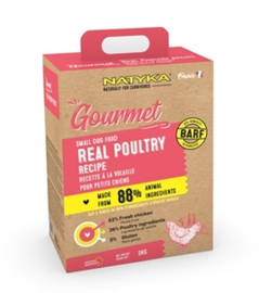NATYKA GOURMET ADULT SMALL BREED POULTRY 9 KG