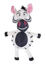 Safari Zebra Van Stevig Nylon Zwart/Wit 33 cm