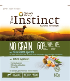 True Instinct Grain Free Adult Medium Salmon 600 gr