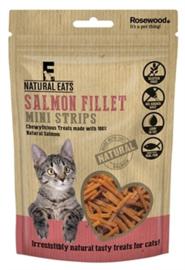 Rosewood Natural Eats Zalm Filet Mini Strips Kat 50 gr