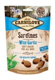 CARNILOVE SOFT SNACK SARDINES / WILDE KNOFLOOK 200 GR