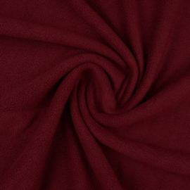 Losse Fleece Stroken Bordeaux Rood