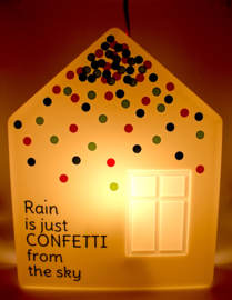 Rain is just ... confetti from the sky