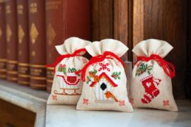 Kruidenzakje 'Kerstmotiefjes' set van 3
