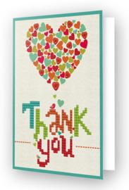 'Thank You Heart' Diamond Dotz Wenskaart