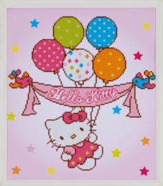 'Hello Kitty met ballonnen' Vervaco Diamond Painting