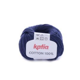 Cotton 100% Donkerblauw