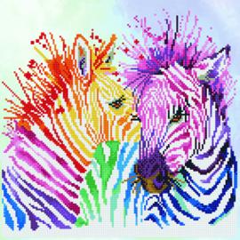 Diamond Dotz 'Rainbow Zebras'