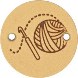 Leren Label Crochet 20mm